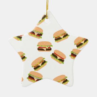 Ornement Étoile En Céramique Grand hamburger savoureux