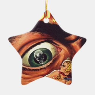 Ornement Étoile En Céramique Grand oeil effrayant