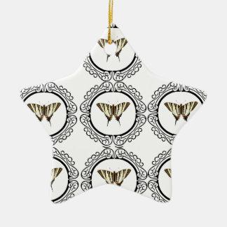 Ornement Étoile En Céramique groupe de papillons