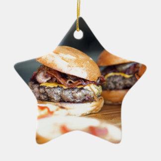 Ornement Étoile En Céramique Hamburgers