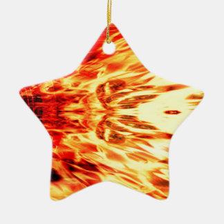 Ornement Étoile En Céramique Haut-parleur de musique avec des flammes