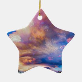 Ornement Étoile En Céramique Haut pile chronométrée de coucher du soleil de