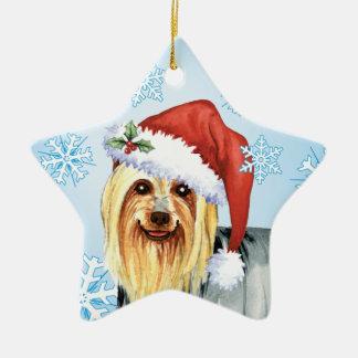 Ornement Étoile En Céramique Howlidays heureux Terrier soyeux