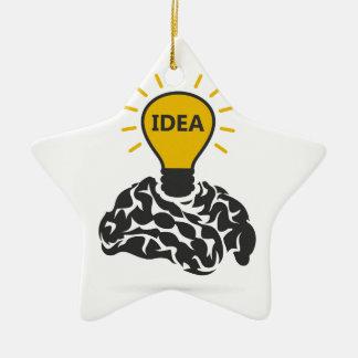 Ornement Étoile En Céramique Idée d'un cerveau