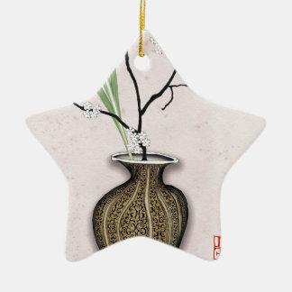 Ornement Étoile En Céramique Ikebana 1 par les fernandes élégants