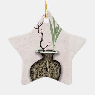 Ornement Étoile En Céramique Ikebana 2 par les fernandes élégants