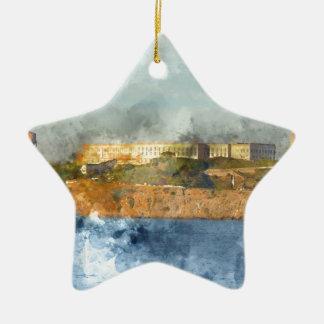 Ornement Étoile En Céramique Île d'Alcatraz à San Francisco la Californie
