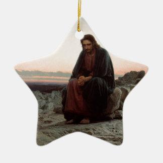 Ornement Étoile En Céramique Ivan Kramskoy- le Christ dans la région sauvage -