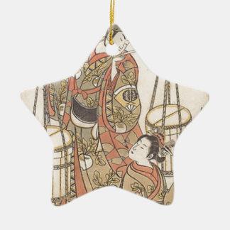 Ornement Étoile En Céramique Japonais Woodprint