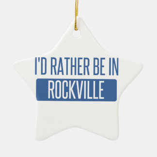 Ornement Étoile En Céramique Je serais plutôt à Rockville