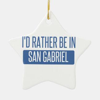 Ornement Étoile En Céramique Je serais plutôt dans San Gabriel