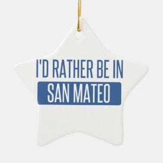 Ornement Étoile En Céramique Je serais plutôt dans San Mateo