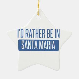 Ornement Étoile En Céramique Je serais plutôt dans Santa Maria
