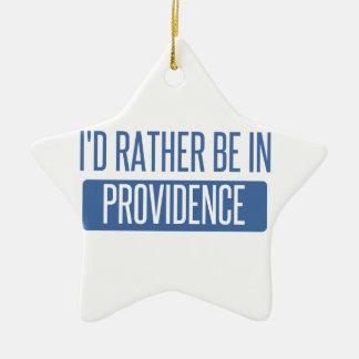 Ornement Étoile En Céramique Je serais plutôt en Providence