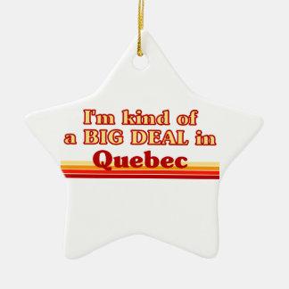 Ornement Étoile En Céramique Je suis un peu une affaire au Québec