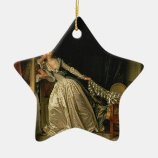 Ornement Étoile En Céramique Jean-Honore Fragonard - le baiser volé -