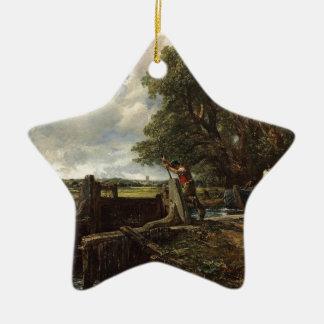Ornement Étoile En Céramique John Constable - la serrure - paysage de campagne