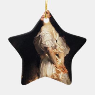 Ornement Étoile En Céramique John Singer Sargent - Nancy Astor - beaux-arts