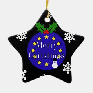 """Ornement Étoile En Céramique """"Joyeux Noël. À l'UE !"""" Brexit Dble-Dégrossi"""