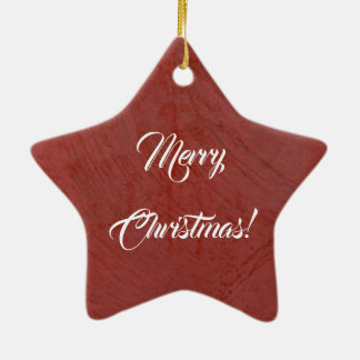 Ornement Étoile En Céramique Joyeux Noël ! Plâtre vénitien rouge italien