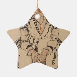 Ornement Étoile En Céramique La belle-soeur de l'artiste d'Egon Schiele-