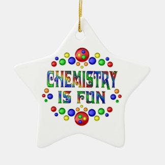Ornement Étoile En Céramique La chimie est amusement