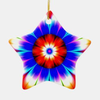 Ornement Étoile En Céramique la fleur obstruent la couleur