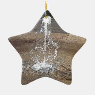 Ornement Étoile En Céramique La fontaine