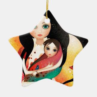Ornement Étoile En Céramique La mère de Gabriel
