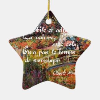 Ornement Étoile En Céramique La nature dans l'art. de Monet