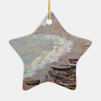 Ornement Étoile En Céramique La plage chez Etretat - Claude Monet