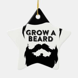 Ornement Étoile En Céramique Laissez-vous pousser une barbe alors que nous