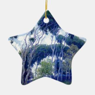 Ornement Étoile En Céramique Le type s'est levé - eucalyptus de Laguna - chef