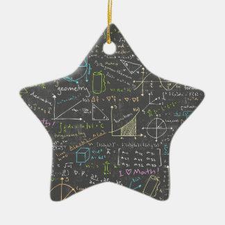 Ornement Étoile En Céramique Leçons de maths