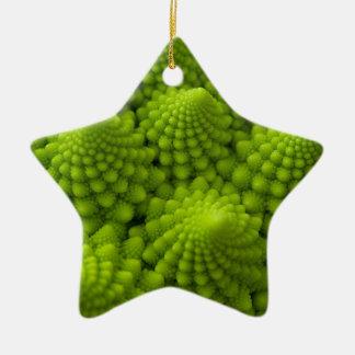 Ornement Étoile En Céramique Légume de fractale de brocoli de Romanesco