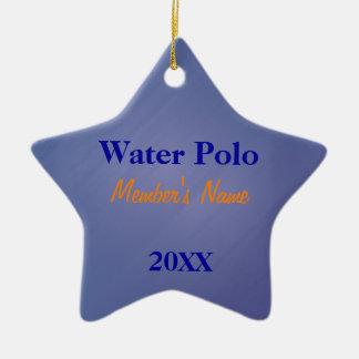 Ornement Étoile En Céramique L'équipe de sports de bleu et d'or ornemente ou