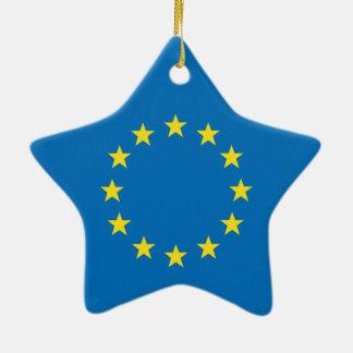 Ornement Étoile En Céramique L'UE marquent la décoration d'étoile de Noël