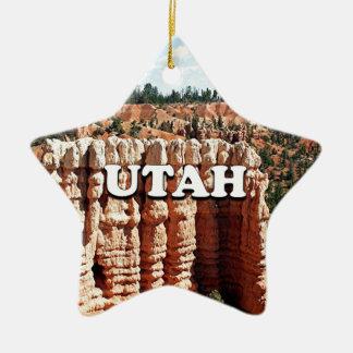 Ornement Étoile En Céramique L'Utah : Parc national de canyon de Bryce