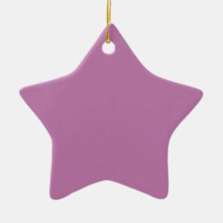 Ornement Étoile En Céramique Magnifiquement couleur P05 pourpre courageuse