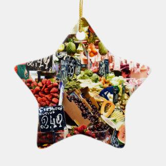 Ornement Étoile En Céramique Marché de fruit