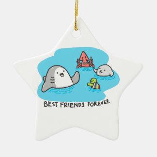 Ornement Étoile En Céramique Meilleurs amis pour toujours !