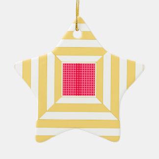 Ornement Étoile En Céramique Modèle carré