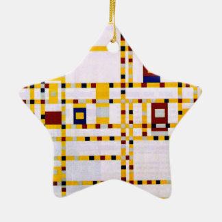 Ornement Étoile En Céramique Mondrian - boogie Woogie de Broadway