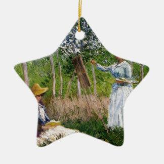 Ornement Étoile En Céramique Monet dans les bois