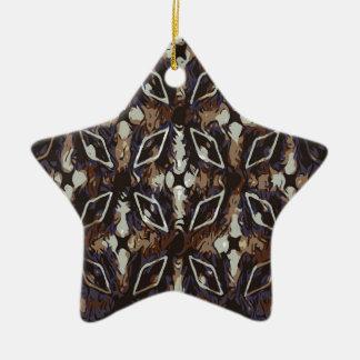 Ornement Étoile En Céramique Motif géométrique. Arrière - plan abstrait