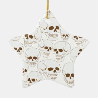 Ornement Étoile En Céramique motif sans couture avec les crânes 3,2