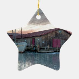 Ornement Étoile En Céramique Musée maritime de baie de chesapeake