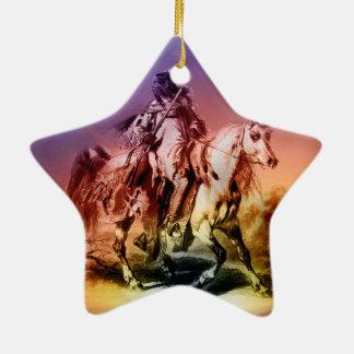 Ornement Étoile En Céramique Natif américain
