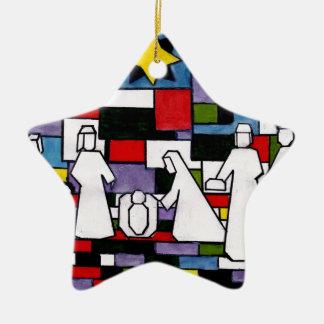 Ornement Étoile En Céramique Nativité de Mondrian - de Stijl - Neoplasticism