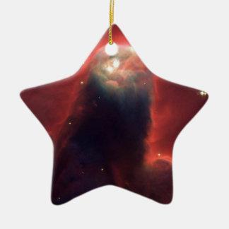 Ornement Étoile En Céramique Nébuleuse de cône dans l'espace NGC 2264